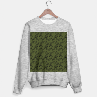 Thumbnail image of Feeling of lightness pattern III - Pine needle green Sweater regular, Live Heroes