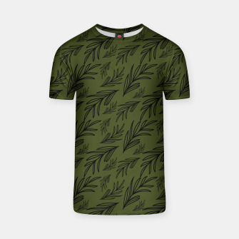 Thumbnail image of Feeling of lightness pattern III - Pine needle green T-shirt, Live Heroes
