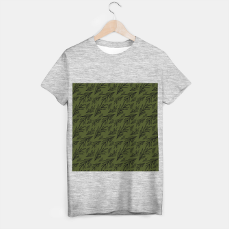 Thumbnail image of Feeling of lightness pattern III - Pine needle green T-shirt regular, Live Heroes