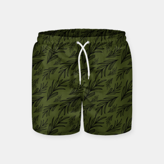Thumbnail image of Feeling of lightness pattern III - Pine needle green Swim Shorts, Live Heroes