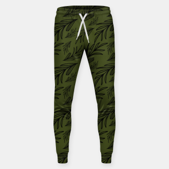 Thumbnail image of Feeling of lightness pattern III - Pine needle green Sweatpants, Live Heroes