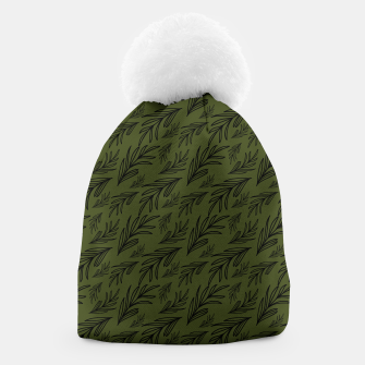 Thumbnail image of Feeling of lightness pattern III - Pine needle green Beanie, Live Heroes