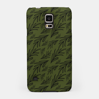 Thumbnail image of Feeling of lightness pattern III - Pine needle green Samsung Case, Live Heroes