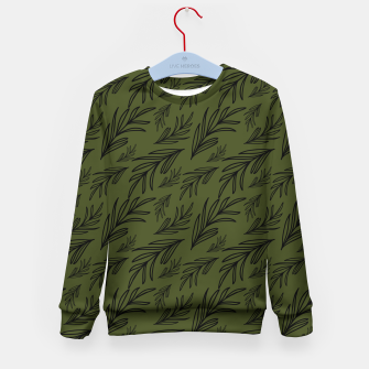 Thumbnail image of Feeling of lightness pattern III - Pine needle green Kid's sweater, Live Heroes