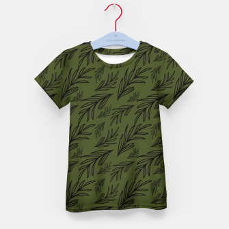 Thumbnail image of Feeling of lightness pattern III - Pine needle green Kid's t-shirt, Live Heroes