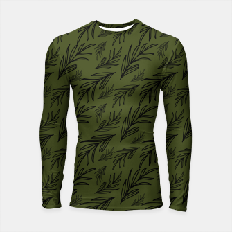 Thumbnail image of Feeling of lightness pattern III - Pine needle green Longsleeve rashguard , Live Heroes