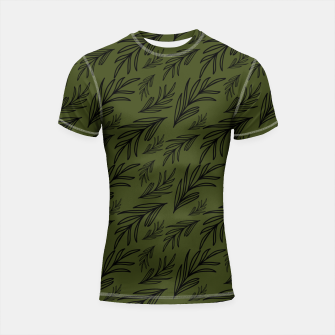Thumbnail image of Feeling of lightness pattern III - Pine needle green Shortsleeve rashguard, Live Heroes