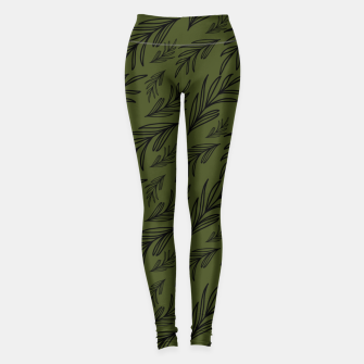 Thumbnail image of Feeling of lightness pattern III - Pine needle green Leggings, Live Heroes