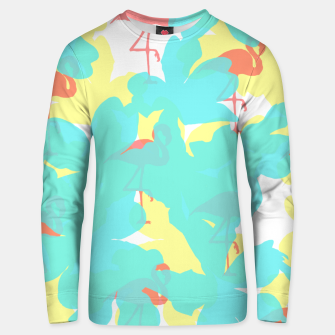 Thumbnail image of Primroses turquoise flamingos coral Unisex sweater, Live Heroes
