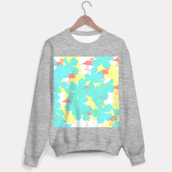 Thumbnail image of Primroses turquoise flamingos coral Sweater regular, Live Heroes