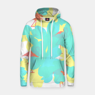 Thumbnail image of Primroses turquoise flamingos coral Hoodie, Live Heroes