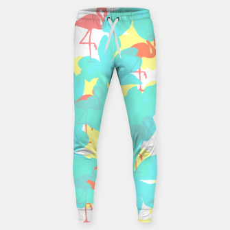 Thumbnail image of Primroses turquoise flamingos coral Sweatpants, Live Heroes