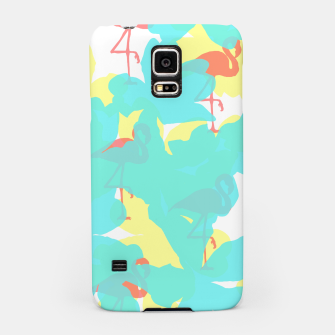 Thumbnail image of Primroses turquoise flamingos coral Samsung Case, Live Heroes