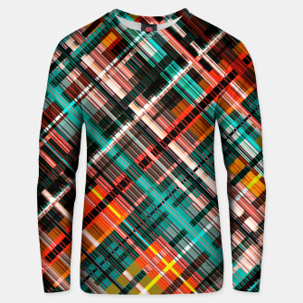 Thumbnail image of Colorful check pattern, color threads  Unisex sweater, Live Heroes