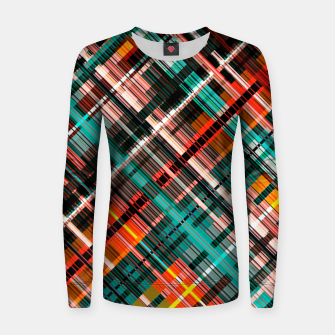 Thumbnail image of Colorful check pattern, color threads  Women sweater, Live Heroes