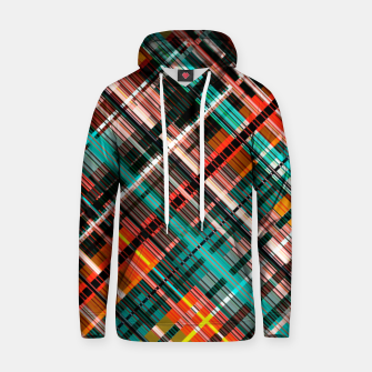 Thumbnail image of Colorful check pattern, color threads  Hoodie, Live Heroes
