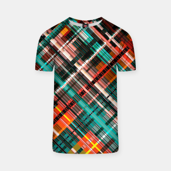 Thumbnail image of Colorful check pattern, color threads  T-shirt, Live Heroes