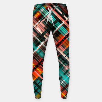 Thumbnail image of Colorful check pattern, color threads  Sweatpants, Live Heroes