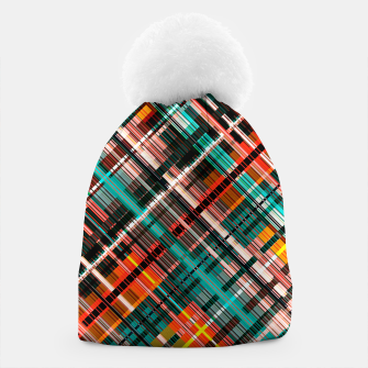 Thumbnail image of Colorful check pattern, color threads  Beanie, Live Heroes