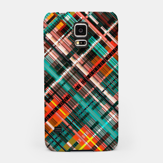 Thumbnail image of Colorful check pattern, color threads  Samsung Case, Live Heroes