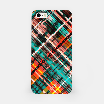 Thumbnail image of Colorful check pattern, color threads  iPhone Case, Live Heroes