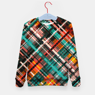 Thumbnail image of Colorful check pattern, color threads  Kid's sweater, Live Heroes