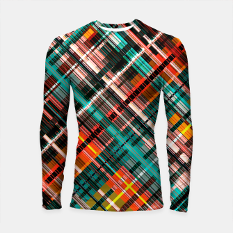 Thumbnail image of Colorful check pattern, color threads  Longsleeve rashguard , Live Heroes
