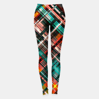 Thumbnail image of Colorful check pattern, color threads  Leggings, Live Heroes