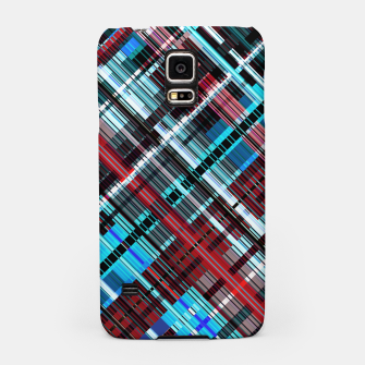 Thumbnail image of Bluish check techno pattern, color lines in blue shades Samsung Case, Live Heroes