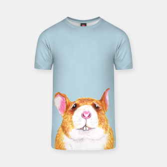Thumbnail image of Worried rat blue t shirt, Live Heroes