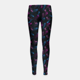 Thumbnail image of Magnificent jellyfishes dance in space Girl's leggings, Live Heroes