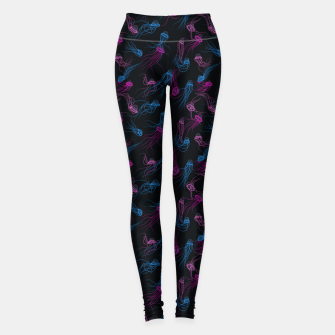 Thumbnail image of Magnificent jellyfishes dance in space Leggings, Live Heroes