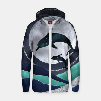 Thumbnail image of Night Swimming Zip up hoodie, Live Heroes