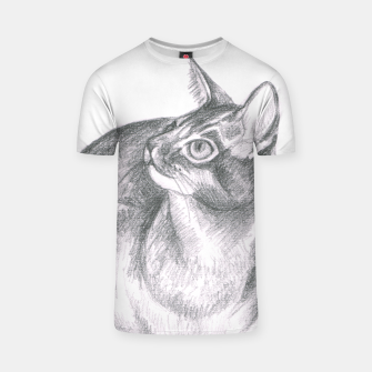Thumbnail image of cat pencil drawing t shirt, Live Heroes