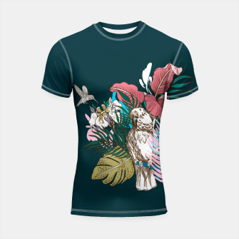 Thumbnail image of Birds jungle paradise Shortsleeve rashguard, Live Heroes