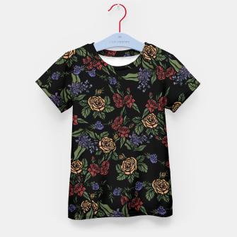 Thumbnail image of Vintage Florals Kid's t-shirt, Live Heroes