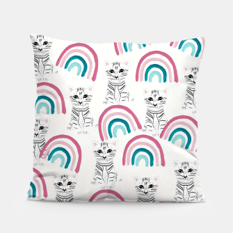 Thumbnail image of Baby Cat in the Rainbow Dreamland #1 (Kids Collection) #decor #art Kissen, Live Heroes