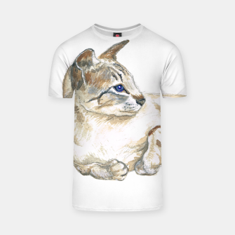 Thumbnail image of Tabby point Siamese cat t shirt, Live Heroes