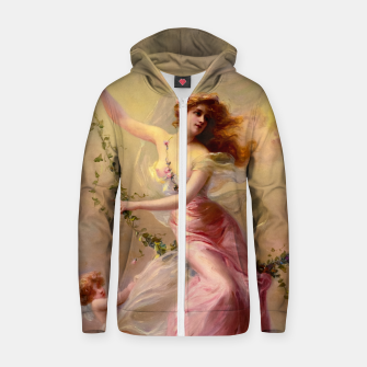 Thumbnail image of The Swing by Edouard Bisson Old Master Reproduction Zip up hoodie, Live Heroes