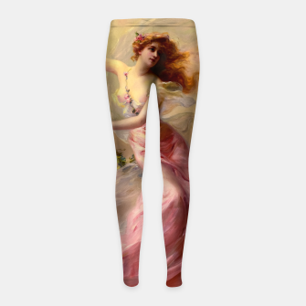 Thumbnail image of The Swing by Edouard Bisson Old Master Reproduction Girl's leggings, Live Heroes