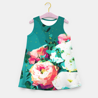 Thumbnail image of Floral & Confetti Girl's summer dress, Live Heroes