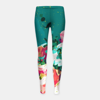 Thumbnail image of Floral & Confetti Girl's leggings, Live Heroes