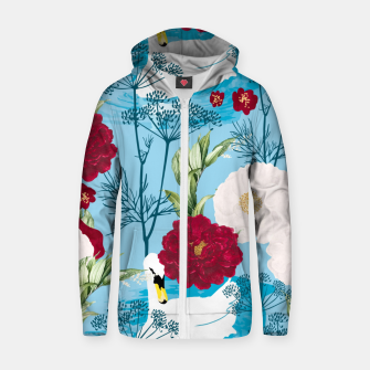 Thumbnail image of Swan Pond Zip up hoodie, Live Heroes
