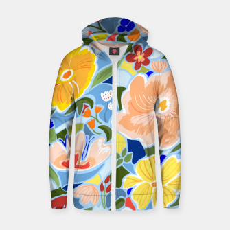 Thumbnail image of Summery Floral Zip up hoodie, Live Heroes