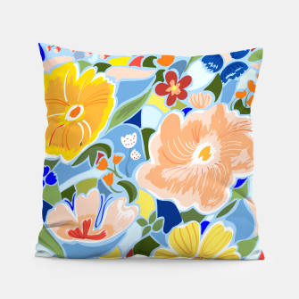 Thumbnail image of Summery Floral Pillow, Live Heroes
