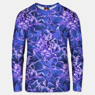 Thumbnail image of Vibrant Blue Flowers Pattern Motif Unisex sweater, Live Heroes