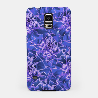 Thumbnail image of Vibrant Blue Flowers Pattern Motif Samsung Case, Live Heroes