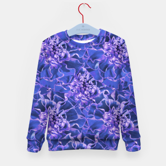 Thumbnail image of Vibrant Blue Flowers Pattern Motif Kid's sweater, Live Heroes