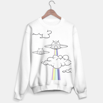 Miniatur Rainbow Attack White Regular Sweater, Live Heroes