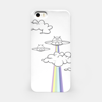 Miniatur Rainbow Attack White iPhone Case, Live Heroes